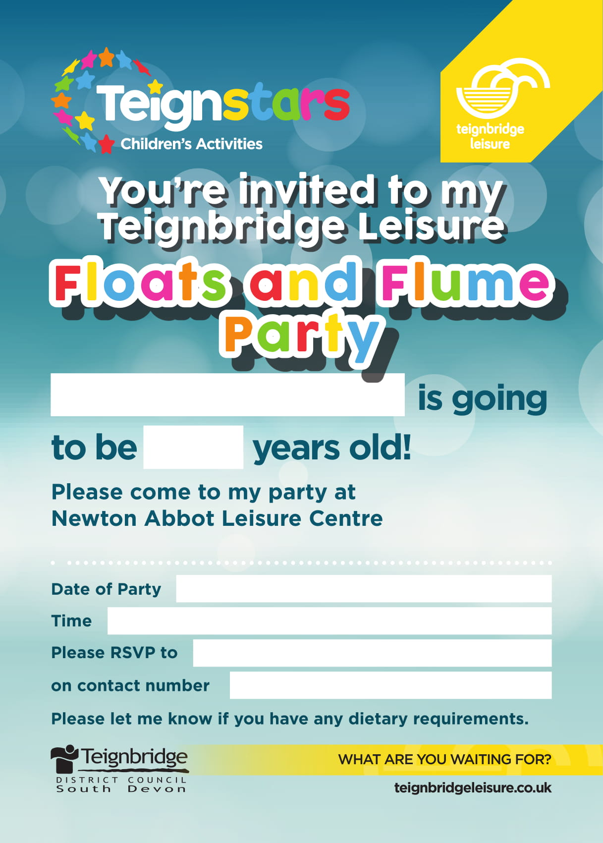 84430_Floats_Flume_Party_Invitations