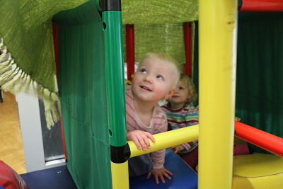 Smiles during playtime in the creche